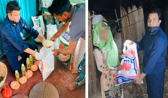 করোনা: খাদ্য সামগ্রী নিয়ে অসহায়ের পাশে শুভ