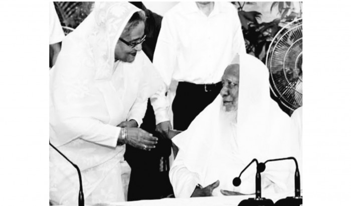 আল্লামা আহমদ শফীর মৃত্যুতে প্রধানমন্ত্রীর শোক