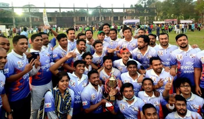 ছাত্রলীগের ক্রিকেট টুর্নামেন্ট: চ্যাম্পিয়ন শহিদ জব্বার একাদশ