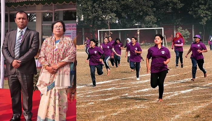 শেখ ফজিলাতুন্নেছা মুজিব হলের বার্ষিক ক্রীড়া প্রতিযোগিতা অনুষ্ঠিত