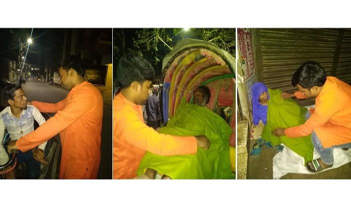 শীতার্তদের পাশে জবি ছাত্রলীগ নেতা জাহিদ