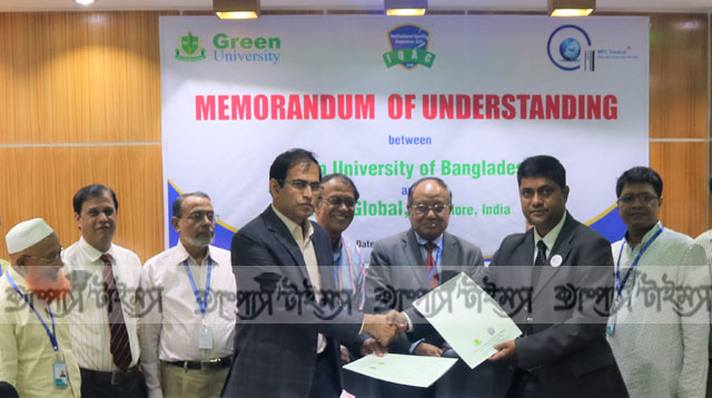 MoU signed between Green University and MTC Global , India