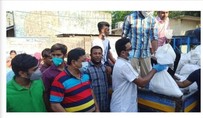 নিজ জেলায় রাব্বানীর ত্রাণ বিতরণ কর্মসূচিতে হট্টগোল