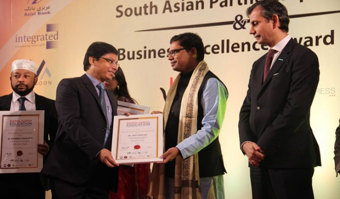 Zahir Uddin Achieved South Asian Partnership Summit and Business Excellence Awards 2017