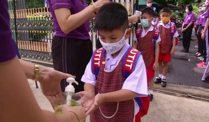 স্কুল খুলছে থাইল্যান্ড, নতুন জীবনযাত্রার সাথে অভ্যস্ত করাতে প্রশিক্ষণ