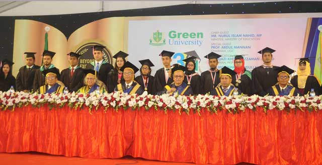 3rd Convocation of Green University of Bangladesh Held