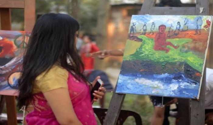 জাহাঙ্গীরনগর বিশ্ববিদ্যালয়ে আর্ট ক্যাম্প: 'সংঘাত নয় সম্প্রীতি'