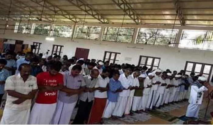 মন্দিরে ঈদের নামাজ পড়লেন কেরালার মুসলিমরা