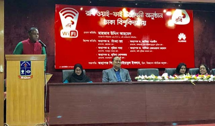 Robi inaugurates WiFi internet service in Dhaka University