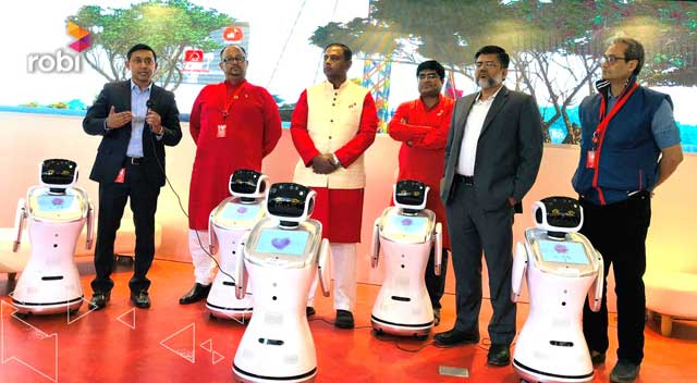 Robi introduces Robi-servicebot robots in Bangladesh
