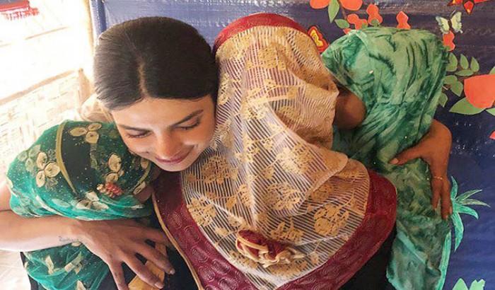 রোহিঙ্গাদের কাছ থেকে বিদায় নিলেন প্রিয়াঙ্কা