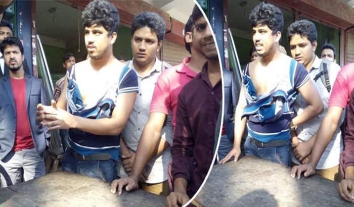 কুমিল্লা বিশ্ববিদ্যালয়ের এক ছাত্রকে সবার সামনে ব্যপক মারধর